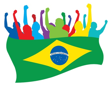 Brazil fans illustration Vector