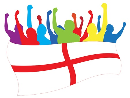 England fans illustration Illustration