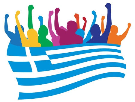 Greece fans illustration