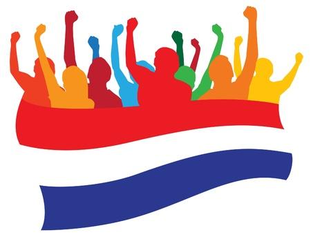 niederlande: Niederlande Fans Illustration