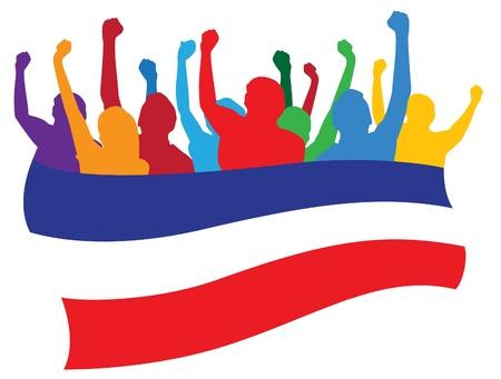 bandera rusia: Rusia, los fans ilustración