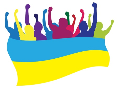 Ukraine fans illustration Illustration