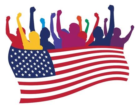 USA fans illustration