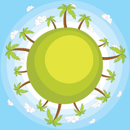 Earth with blue sky illustration Vector
