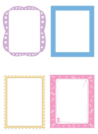 Cute frames illustration