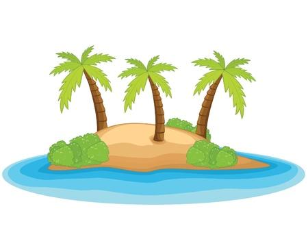 summer school: Palm island illustration