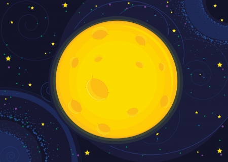 Moon illustration Vector