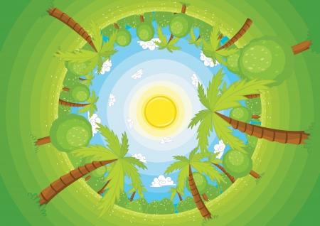 ciclo del agua: Ilustración del mundo Ronda Vectores