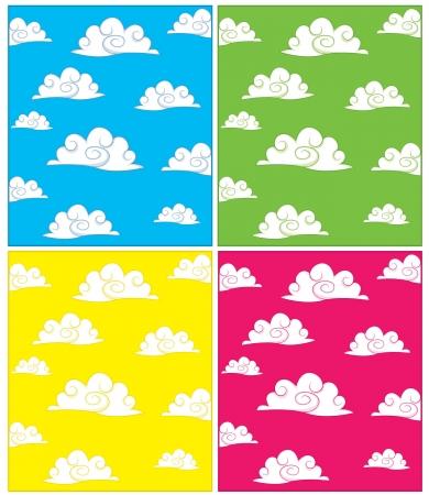Set of cloud backgrounds Vector