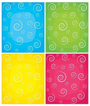 Set of swirl backgrounds  Illustration