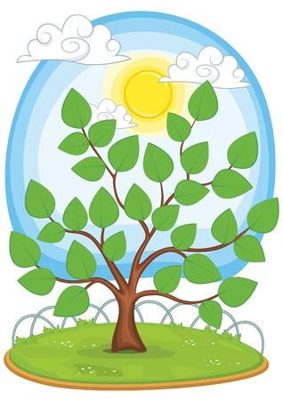 ni�os reciclando: �rbol de la ilustraci�n Vectores