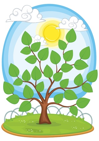 Tree illustration Stock Vector - 14201180