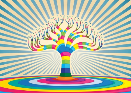 Colorful tree vector design