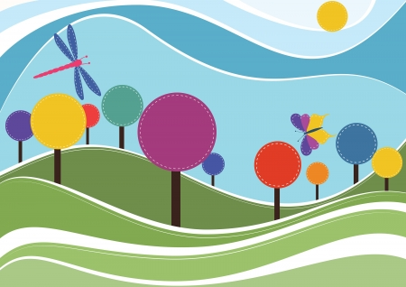 Spring vector background Illustration
