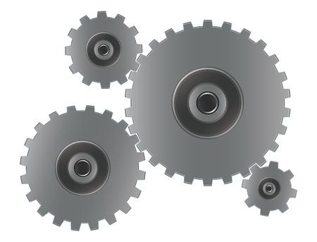 gearshift: Gears vector illustration