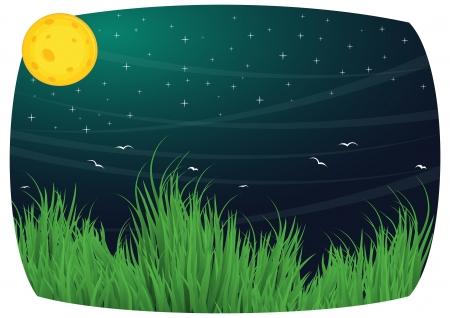 sonne mond und sterne: Mond Hintergrund Vektor-Illustration Illustration