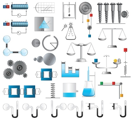 Physics and Chemistry illustrations Vector