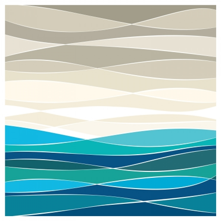 Abstract sea vector background Vector