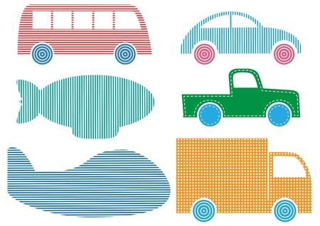 Set of Vehicles vector Vector