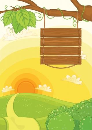 mooie achtergrond: Meld bord met mooie achtergrond afbeelding