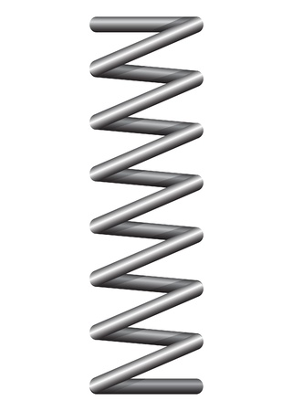 metal spring: Spring steel