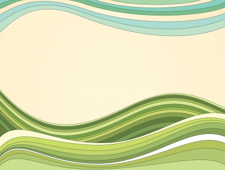 Retro Landscape Vector Background Vector