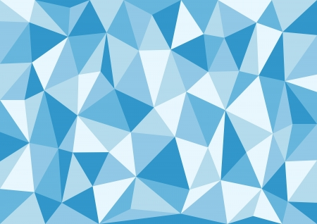 Soft Blue Triangles Vector Background Stock Vector - 19562475
