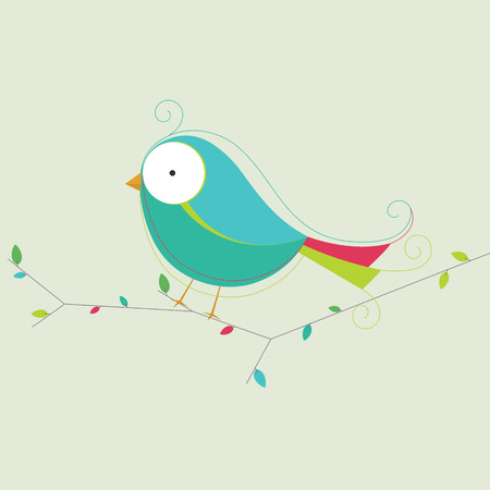 lovable: Vector Illustration Of A Bird