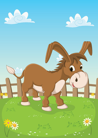 amuse: Donkey Vector Illustration