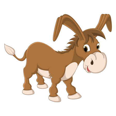 ears donkey: Isolated Donkey Vector Illustration