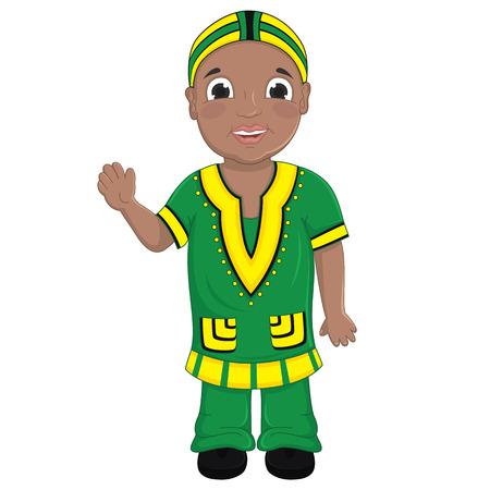 garcon africain: Afrique Boy Illustration Vecteur