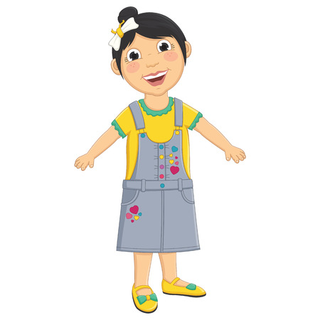 role: Cute Girl Vector Illustration