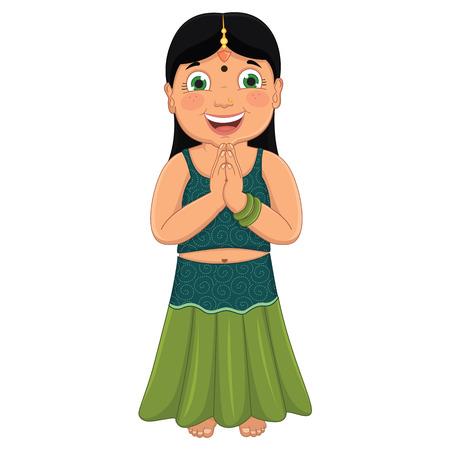 Indian Girl Vector Illustration