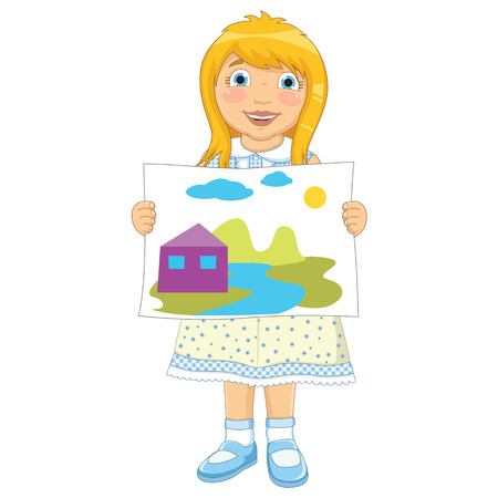canvass: Girl Painting Vector Illustration