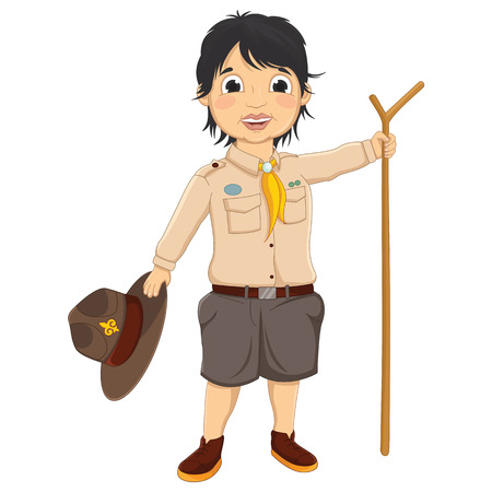 Boy Scout Vector Illustration Vector