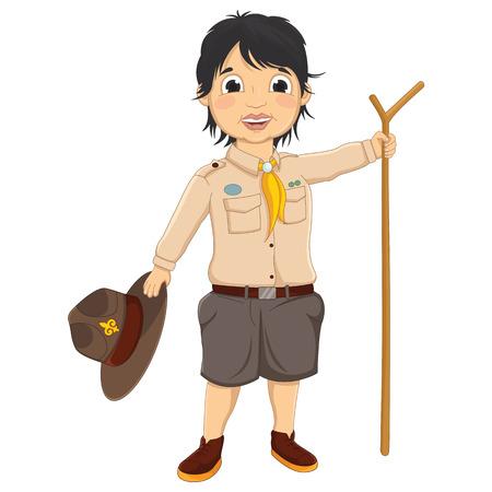 ranger: Illustrazione Boy Scout vettoriale Vettoriali
