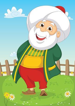 hombre calvo: Old Man Ilustraci�n Vectores