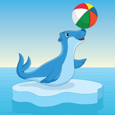 Sea calf Illustration