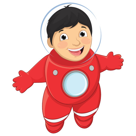 Boy Astronaut Illustration