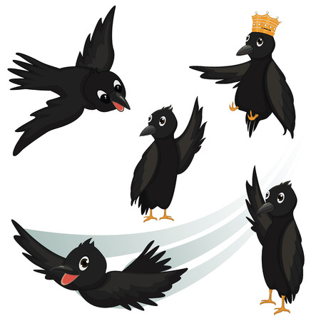 Crows Illustrations Vector
