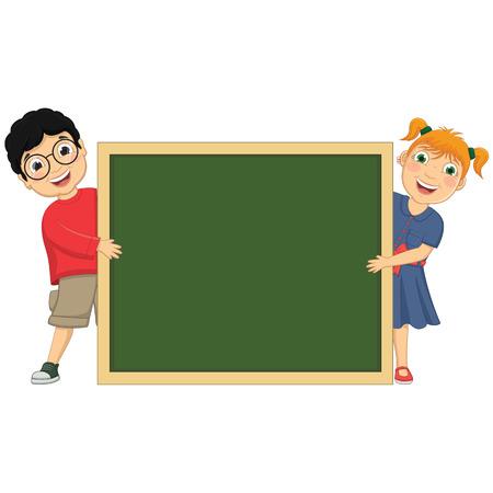 Illustration Of Cute Children Holding Board