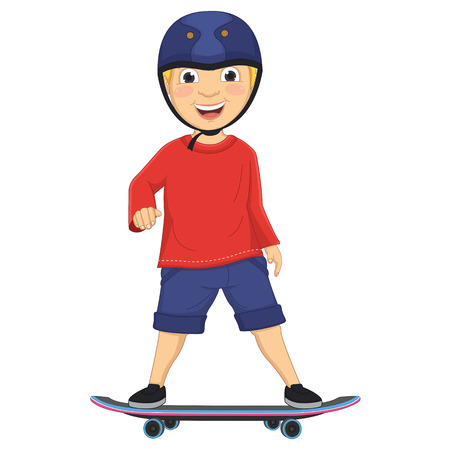 Illustration Of A Boy Skating Ilustrace