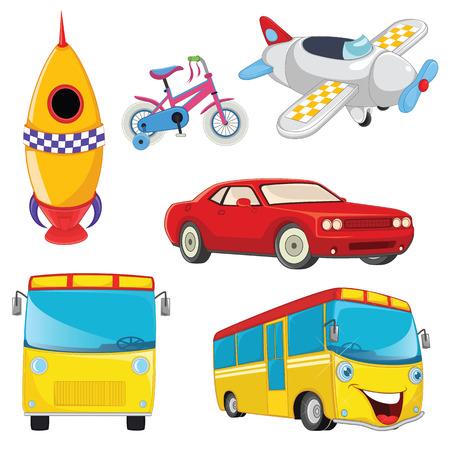 Vehicles Set Illustration