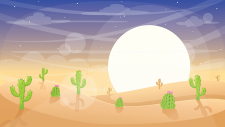 esert Landscape Vector Illustration