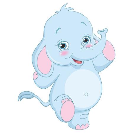 Ilustración Vectorial De elefante de la historieta