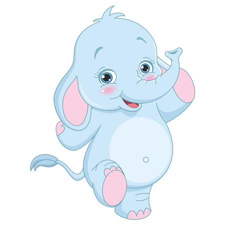 elephant: Vector Illustration Of Cartoon Elephant Illustration