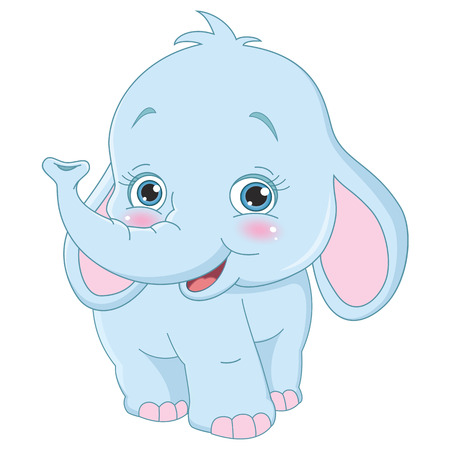 Vector Illustration Of Cartoon Elephant Illustration