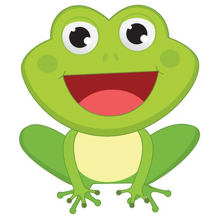 smiling frog: Vector Illustration Of Cartoon Frog