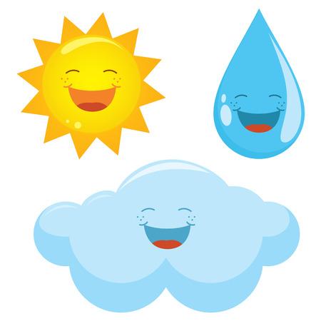 sleet: Vector Illustration Of Weather Icons