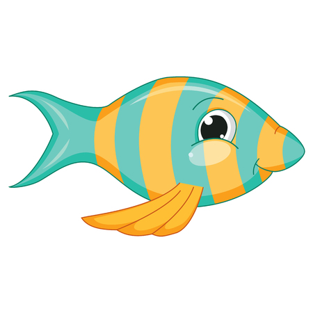 seawater: Vector Illustration Of Cartoon Fish Illustration